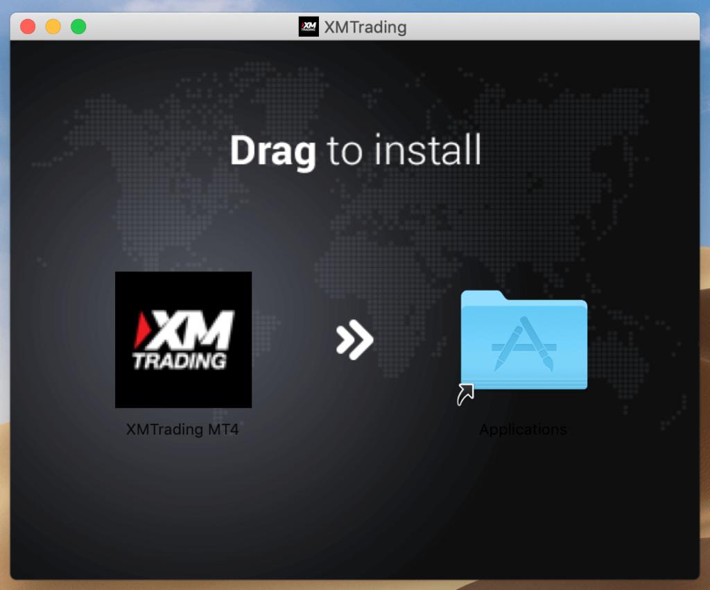 XMTradingをアプリケーションフォルダへ移動